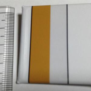 ながいきつね缶バッジ(胴体直線) - 四角形40mm