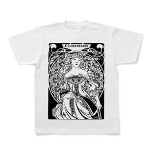 アルフォンス・ミュシャ「夢想」デザインTシャツ
