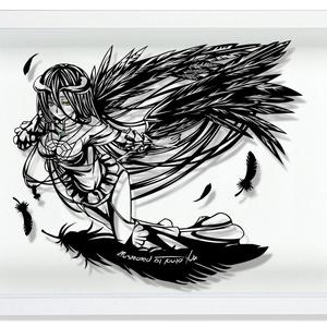 灯夜雪 「アルベド」オーバーロード 切り絵アート