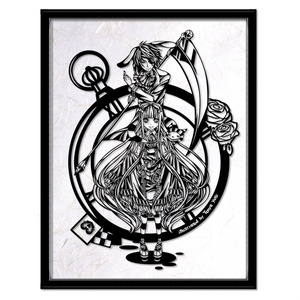 灯夜雪 「アリスカード」 ふしぎの国のアリス 切り絵アート