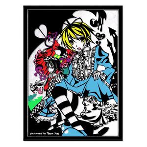 灯夜雪 「少年アリス」 ふしぎの国のアリス 切り絵アート