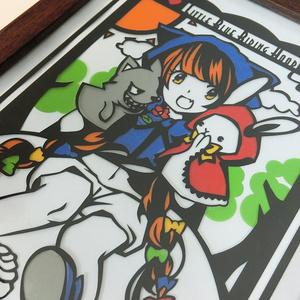 兎時メア 「青ずきんちゃん」 切り絵アート