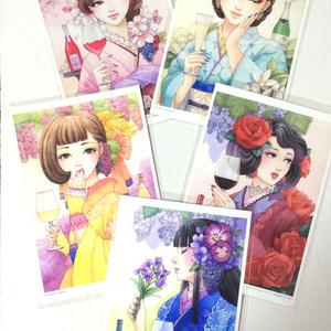 ポストカード5枚セット【日本ワイン女子】