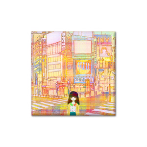 「Urbanscape」正方形缶バッジ
