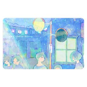 「夜の帳の子ども」ICカードステッカー