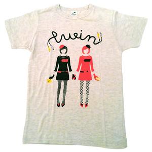 ついんふぁみ子ちゃん Tシャツ(オートミール)