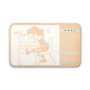 眼鏡のかぼちゃん モバイルバッテリー (タイピング:アプリコット)
