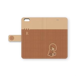 抵抗さん【ベージュチェック】 手帳型iPhoneケース