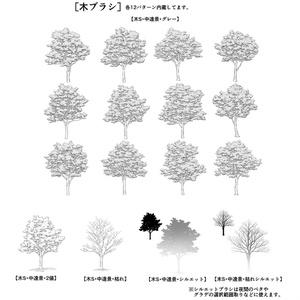 シンプル中遠景草木ブラシ・セット