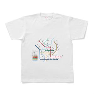 お笑い路線図Tシャツ