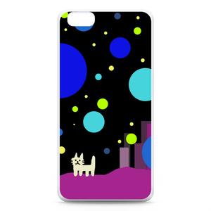 iPhone6 Plus,6s Plusケース おねこさんの宇宙都市