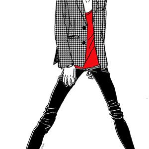 """Red"" いけめんファッショニスタ iPhone ケース"
