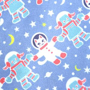 大判クリーナークロス『宇宙フォークダンス 紫』めがねふき 宇宙を旅する白猫マイカシリーズ