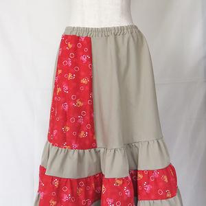 蟹のティアードスカート