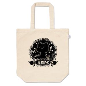 黒猫のKトートバッグ