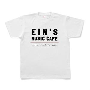 ein's music cafe シャツ(白)