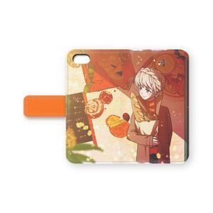 手帳型iPhoneケース(オリジナル/金木犀のある径)