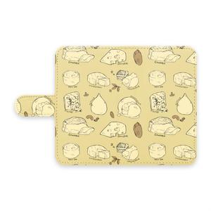 手帳型Androidケース 【チーズ】