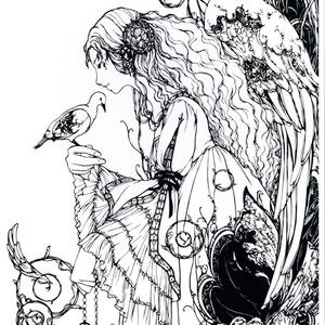 創作切り絵ポスター(A4) (レナータ)
