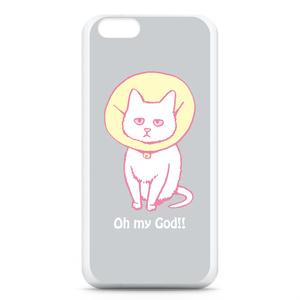 猫のiPhone6ケース(グレー)