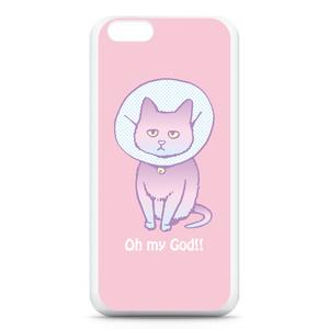猫のiPhoneケース(ピンク)
