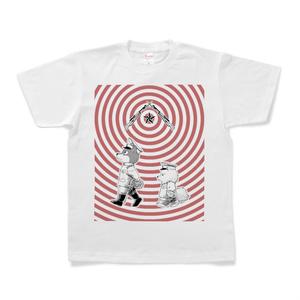 [巻きシッポ帝国]パッチと茶々Tシャツ