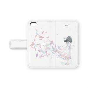 手帳型iPhoneケース 舞い散る少女