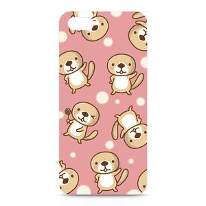 突撃!ラッコさん    ウインクiPhoneケース(ピンク)