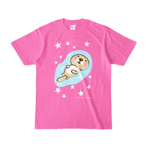 ラッコさんプカプカTシャツ(ピンク)