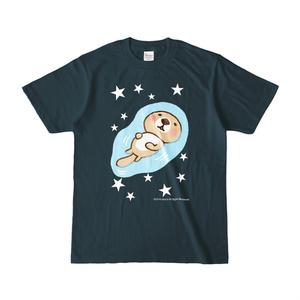 ラッコさんプカプカTシャツ(デニム)