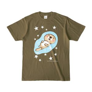 ラッコさんプカプカTシャツ(オリーブ)