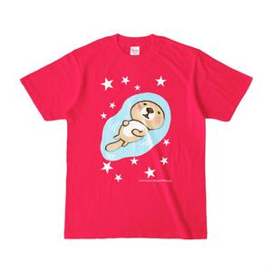 ラッコさんプカプカTシャツ(ホットピンク)