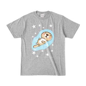 ラッコさんプカプカTシャツ(杢グレー)