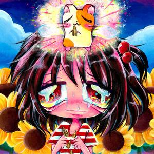 わたしのハムちゃんは天使になったポストカード