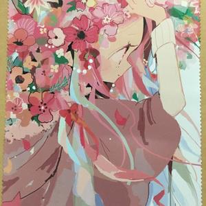 盛り花ガール(ピンク)マイクロファイバー