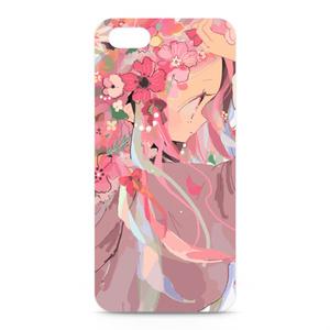 盛り花ガール(ピンク)iPhoneケース