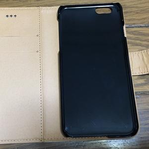 少女(花/パープルグレー)手帳型iPhoneケース