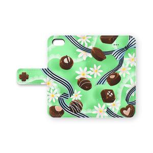 チョコとリボンのiPhoneケースGR
