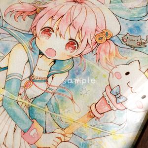 猫魔女ちゃん(ポストカード/複製原画2L/B5)
