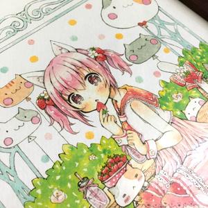 Strawberry party(ポストカード/複製原画B5)