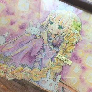 複製原画B5/ポストカード 四葉ちゃん(ラプンツェル)