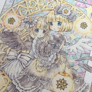 複製原画B5/ポストカード 双子天使ちゃん