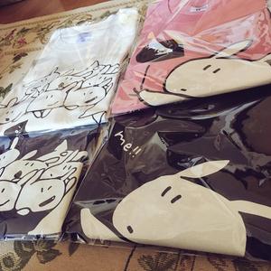 めあうさTシャツ/黒