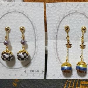 【ロンパV3】コットンパールイヤリング