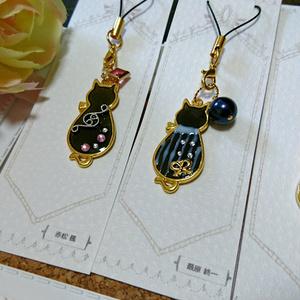 【ロンパV3】黒猫ストラップ
