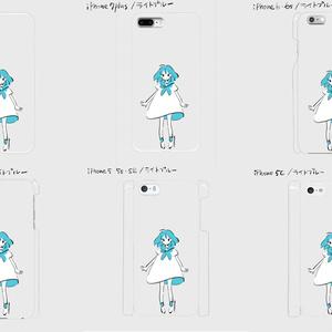 《受注生産》iphoneケース ライトブルー