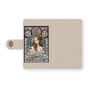 アンドロイド 手帳型ケース 美女と野獣