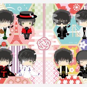 【セット】星昴 和モダンブランケット(両面印刷)&収納用ランチトート(片面印刷) 2点セット