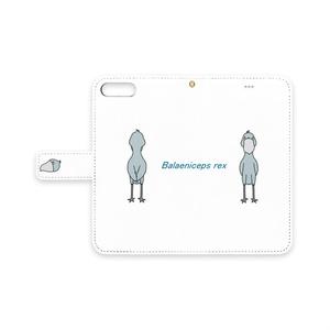 ハシビロコウ 手帳型iPhoneケース