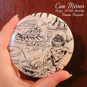 缶ミラー(手鏡)